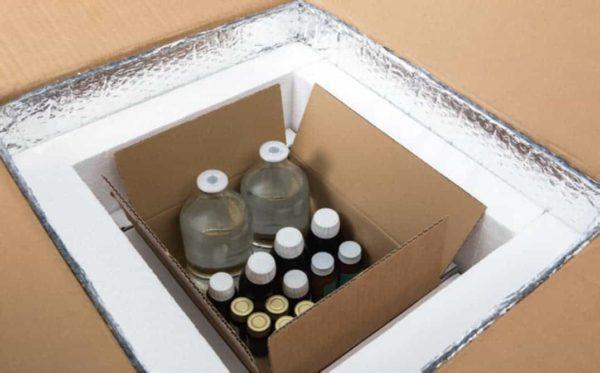 Dobozok gyógyszerszállításhoz